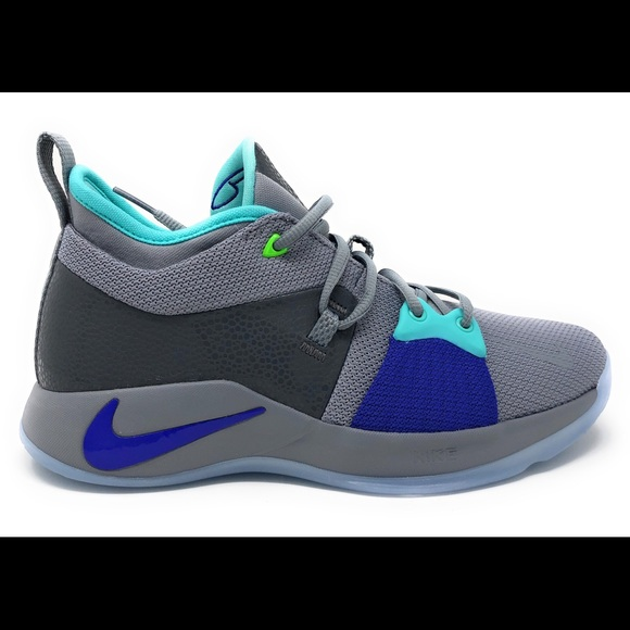 14f7ac2376a7 Nike PG 2 GS Pure Platinum Neo Turquoise Youth
